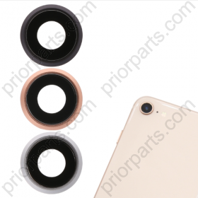 for iPhone 7 Rear Camera Lens Glass Cover With Metal Frame Holder