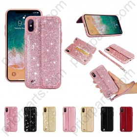 for iPhone X Leather Wallet Case
