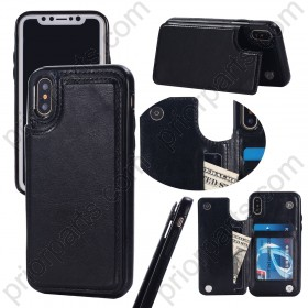 New Hot for iPhone XS Leather Wallet Case With Card Holder 2019 Fashion Case