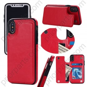 For iPhone XS Max leather case