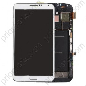 For Samsung Galaxy Note 2 N7100 LCD Screen Digitizer Assembly with frame White