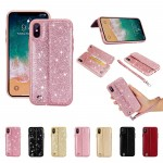 for iPhone X Leather Wallet Case Card Holder Shockproof Anti-Scratch Protective Cover for Apple X 5.8inch