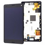 For Sony Xperia Z3 L55t LCD screen digitizer assembly with frame Black