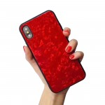 for iPhone XS Conch Shell Case 3D Cover TPU Silicone and Glass Shockproof for iPhone Apple X