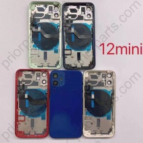 for iPhone 12 Mini Back Housing Cover Battery Door Rear Glass With Middle Frame 5.4'' Green