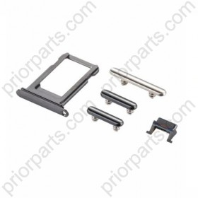 Sim Card Tray + Volume Control Key + Power Button + Mute Switch Vibrator Key for iPhone X Assembly