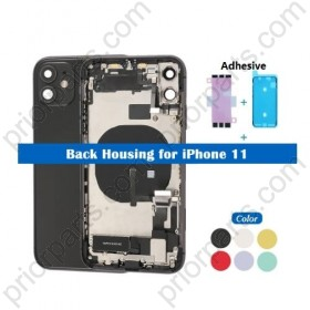 For iPhone 11 Back Housing Cover Middle Chassis With Full Flex Assembly Black