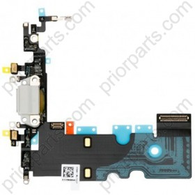For iPhone 8 Charging Port dock connector flex cable assembly Black