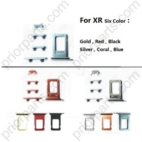 Sim Card Tray Volume Control Key Power Button Mute Switch Vibrator Key for iPhone XR