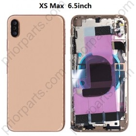 Full Back Cover for iPhone XS Max Rear Battery Door Middle Frame Chassis With Flex Cable Parts Housing