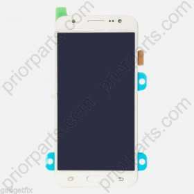 Front lcd display screen assembly for Samsung J5 J500 White Grade T