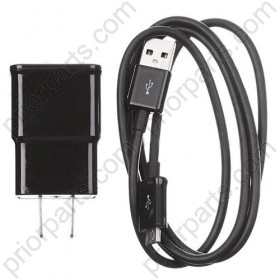For Samsung S3 s4 s5 charger with Data USB cable Black