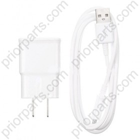 For Samsung S3 s4 s5 charger with Data USB cable White