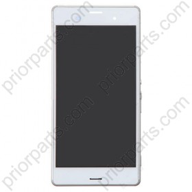For Sony Xperia Z3 L55t LCD screen digitizer assembly with frame White