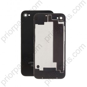 For iPhone 4S Back Glass Cover Black