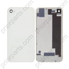 For iPhone 4S Back Cover Glass Housing White