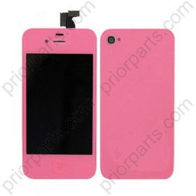 For iPhone 4S conversion kit front screen with back housing and home button Pink