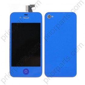 Dark blue for iPhone 4S LCD Screen complete With Back Cover and Home Button