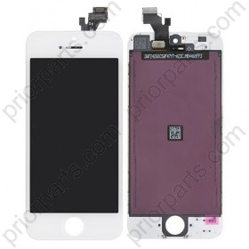 For iPhone 5 display LCD screen assembly White