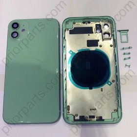 for iPhone 11 Full Housing Cover Door Assembly for Apple 11 Back Battery Glass With Frame 6.1''Inch Green