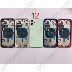 for iPhone 12 Back Housing Cover Door Rear Battery Glass With Middle Frame 6.1Inch Assembly