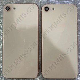 Back Battery Glass With Frame for iPhone 8 Full Housing Cover Door Assembly 4.7''Inch