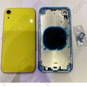 for iPhone XR Full Housing Cover Door Assembly Xr Back Battery Glass With Frame 6.1''Inch Yellow
