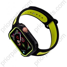 for iWatchband Liquid Silicone iWatch Strap Double Color Stitching Sport Chain