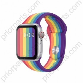 for Apple iWatch Strap Rainbow Liquid Silicone Chain iWatchband