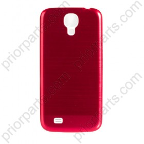 Metal Brushed Back Housing Cover for Samsung Galaxy S4 Red