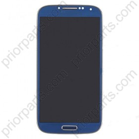 For Samsung Galaxy S4 i9500 LCD Screen and Digitizer Assembly with Front Housing blue