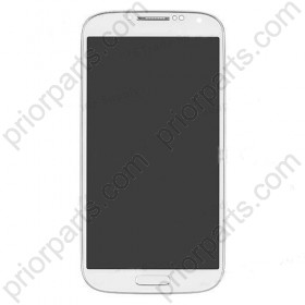 for Samsung Galaxy S4 i9500 LCD Screen Digitizer Assembly with frame White