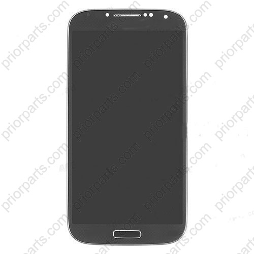 LCD Screen Digitizer Assembly Replace Frame Black For Samsung Galaxy S4 I9505