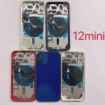 for iPhone 12 Mini Back Housing Cover Battery Door Rear Glass With Middle Frame 5.4''