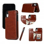 New Hot for iPhone XR Leather Wallet Case With Card Holder 2019 Fashion Case