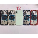 for iPhone 12 Back Housing Cover Door Rear Battery Glass With Middle Frame 6.1Inch