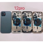 for iPhone 12 Pro Back Housing Cover Door Rear Battery Glass With Middle Frame 6.1Inch