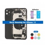 for iPhone 11 Back Housing Cover Middle Chassis With Full Flex Cable All Small Parts Assembly