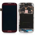 For Samsung Galaxy S4 i9500 LCD screen assembly with frame Red
