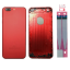 Red Metal Back Cover Housing Replacement Parts for iPhone7 Plus with all side buttons and camera lens 5.5 Inch