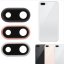 for iPhone 8 Plus Rear Camera Lens Glass Cover With Metal Frame Holder 5.5Inch