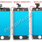 Difference between CDMA and GSM iPhone 4 LCD Screen Digitizer