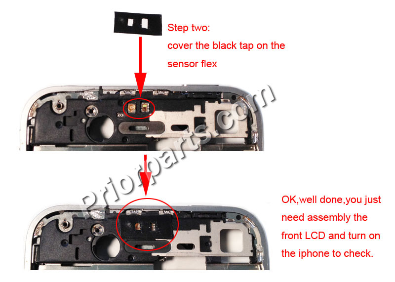 iPhone 4 4S proximity sensor does not work / prior parts blog