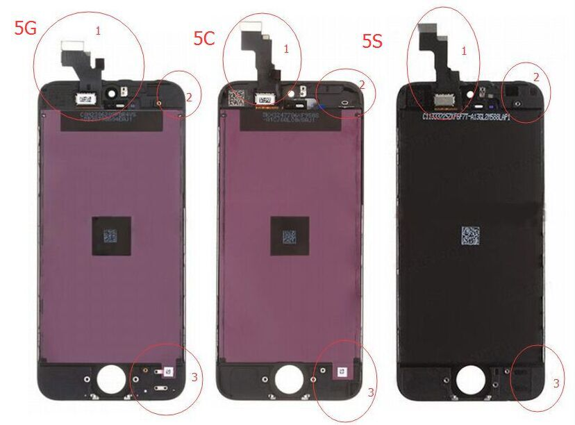 iphone 5s screen the difference between iphone 5 5c 5s screen lcd assembly 1332